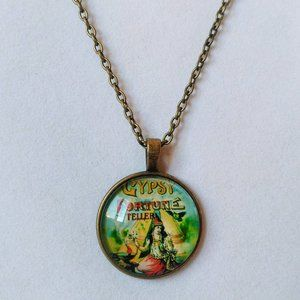 Gypsy Fortune Teller Cabochon Necklace
